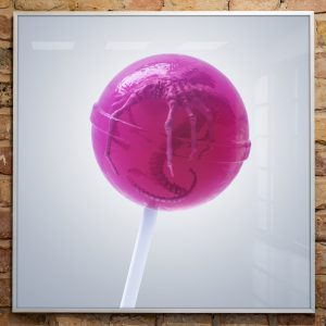 Artprint Lollipop Facehugger von soonapie
